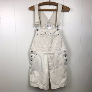 Vintage Bill Blass Khaki Bib Overall Shorts Medium